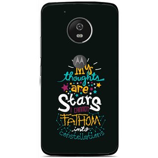 Snooky Printed Thoughts Are Stars Mobile Back Cover For Moto G5 - Multi
