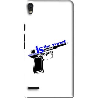 Snooky Printed Be Educated Mobile Back Cover For Huawei Ascend P6 - Multi