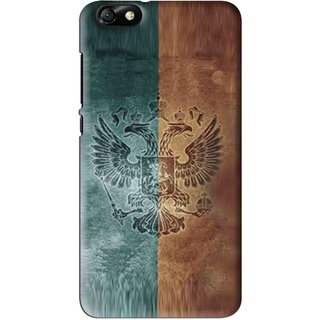 Snooky Printed Eagle Mobile Back Cover For Huawei Honor 4X - Multi