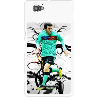 Snooky Printed Football Champion Mobile Back Cover For Sony Xperia M - Multicolour