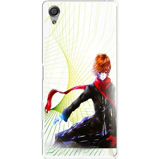 Snooky Printed Stylo Boy Mobile Back Cover For Sony Xperia X - Multicolour