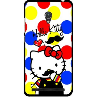 Snooky Printed moustache Kitty Mobile Back Cover For Asus Zenfone Go ZC451TG - Multicolour