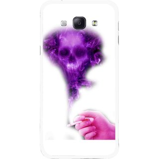 Snooky Printed Danger Mobile Back Cover For Samsung Galaxy A8 - Multicolour