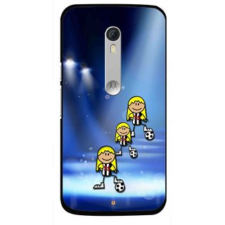 Snooky Printed Girls On Top Mobile Back Cover For Motorola Moto X Style - Blue
