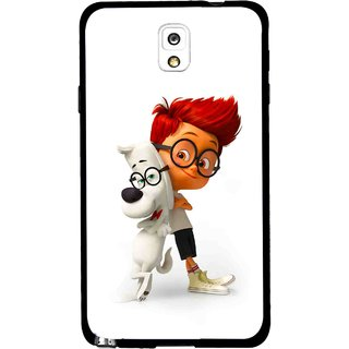 Snooky Printed My Friend Mobile Back Cover For Samsung Galaxy Note 3 - White
