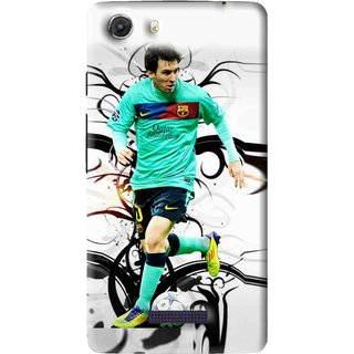 Snooky Printed Football Champion Mobile Back Cover For Micromax Canvas Unite 3 - Multi