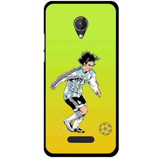 Snooky Printed Focus Ball Mobile Back Cover For Micromax Canvas Spark Q380 - Multi