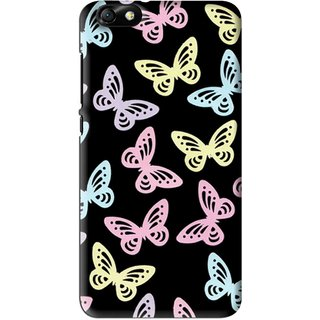 Snooky Printed Butterfly Mobile Back Cover For Huawei Honor 4X - Multi