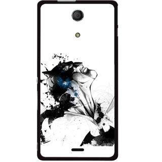Snooky Printed Super Hero Mobile Back Cover For Sony Xperia ZR - Multicolour