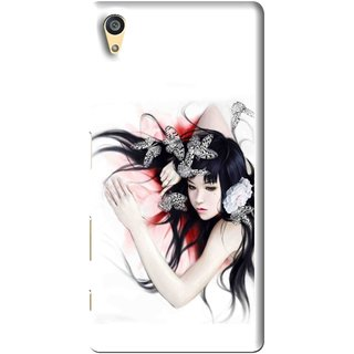 Snooky Printed Sleeping Girl Mobile Back Cover For Sony Xperia Z5 - Multi