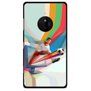 Snooky Printed Kick FootBall Mobile Back Cover For Microsoft Lumia 830 - Multi