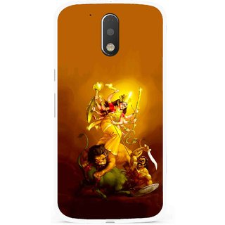 Snooky Printed Maa Durga Mobile Back Cover For Moto G4 Plus - Multi