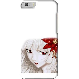 Snooky Printed Chinies Girl Mobile Back Cover For Micromax Canvas Knight 2 E471 - Multi