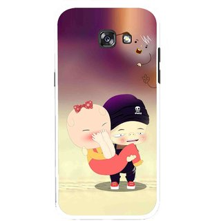 Snooky Printed Friendship Mobile Back Cover For Samsung Galaxy A7 (2017) - Multicolour