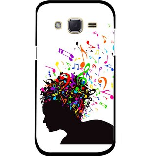 Snooky Printed Music Lover Mobile Back Cover For Samsung Galaxy j2 - White