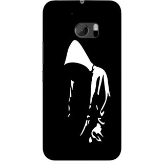 Snooky Printed Thinking Man Mobile Back Cover For HTC One M10 - Black
