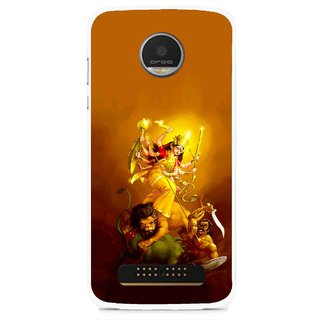 Snooky Printed Maa Durga Mobile Back Cover For Moto Z - Multi