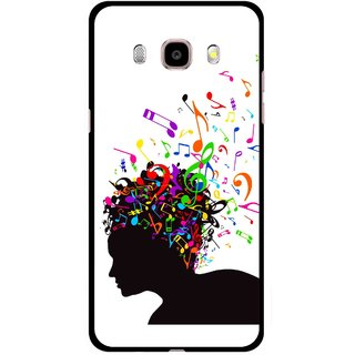 Snooky Printed Music Lover Mobile Back Cover For Samsung Galaxy J5 (2017) - White