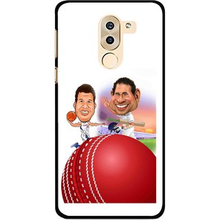 Snooky Printed Play Cricket Mobile Back Cover For Huawei Honor 6X - Multi