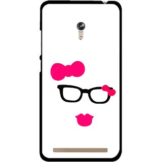Snooky Printed Pinky Girl Mobile Back Cover For Asus Zenfone 6 - Multicolour