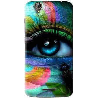 Snooky Printed Designer Eye Mobile Back Cover For Acer Liquid Z630S - Multi