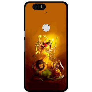 Snooky Printed Maa Durga Mobile Back Cover For Huawei Nexus 6P - Multi