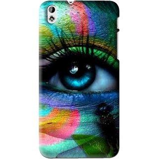 Snooky Printed Designer Eye Mobile Back Cover For HTC Desire 816 - Multi