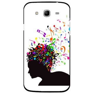 Snooky Printed Music Lover Mobile Back Cover For Samsung Galaxy Mega 5.8 - White