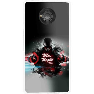 Snooky Printed Mr.Right Mobile Back Cover For Micromax Yu Yuphoria - Multicolour