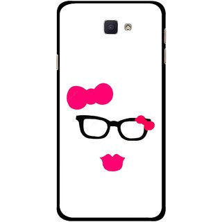 Snooky Printed Pinky Girl Mobile Back Cover For Samsung Galaxy J7 Prime - Multicolour