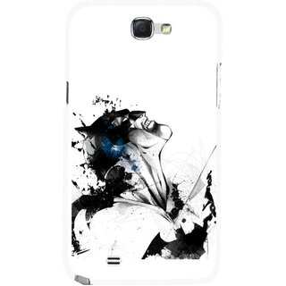 Snooky Printed Super Hero Mobile Back Cover For Samsung Galaxy Note 2 - Multicolour