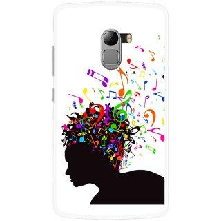 Snooky Printed Music Lover Mobile Back Cover For Lenovo K4 Note - White