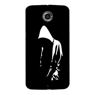 Snooky Printed Thinking Man Mobile Back Cover For Motorola Nexus 6 - Black