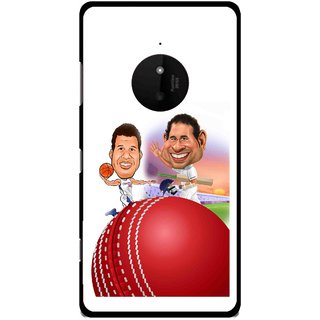 Snooky Printed Play Cricket Mobile Back Cover For Microsoft Lumia 830 - Multi