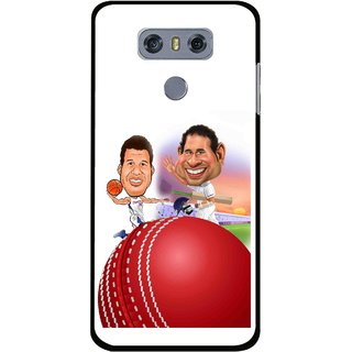Snooky Printed Play Cricket Mobile Back Cover For LG G6 - Multi