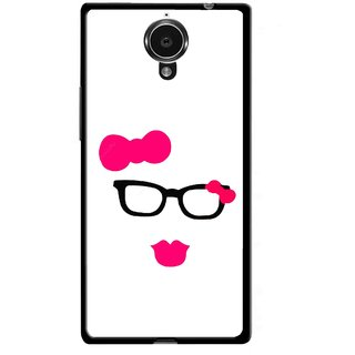Snooky Printed Pinky Girl Mobile Back Cover For Gionee Elife E7 - Multicolour