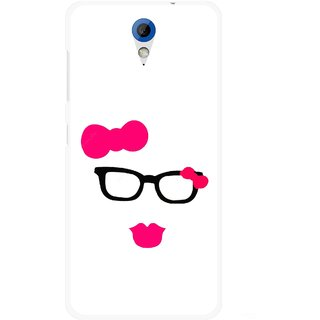Snooky Printed Pinky Girl Mobile Back Cover For HTC Desire 620 - Multicolour
