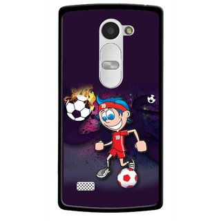 Snooky Printed My Game Mobile Back Cover For Lg Leon - Puple