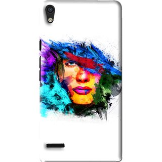 Snooky Printed Dashing Girl Mobile Back Cover For Huawei Ascend P6 - Multi