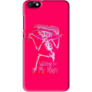 Snooky Printed Mr.Right Mobile Back Cover For Huawei Honor 4X - Multi