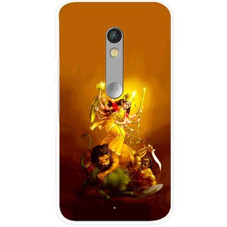 Snooky Printed Maa Durga Mobile Back Cover For Motorola Moto X Play - Multi