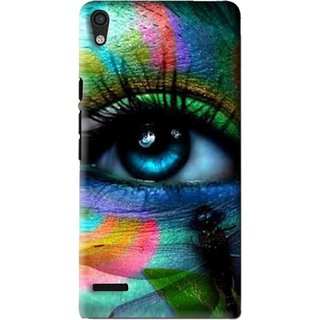 Snooky Printed Designer Eye Mobile Back Cover For Huawei Ascend P6 - Multi