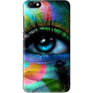 Snooky Printed Designer Eye Mobile Back Cover For Huawei Honor 4X - Multi