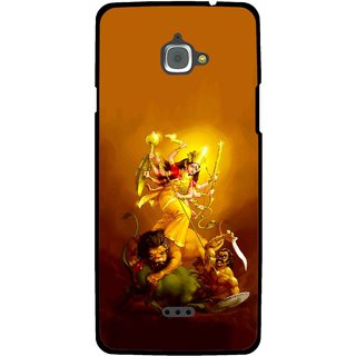 Snooky Printed Maa Durga Mobile Back Cover For Infocus M350 - Multi