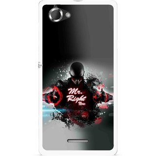 Snooky Printed Mr.Right Mobile Back Cover For Sony Xperia L - Multicolour