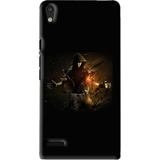 Snooky Printed Dancing Boy Mobile Back Cover For Huawei Ascend P6 - Multi