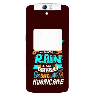 Snooky Printed Monsoon Mobile Back Cover For Oppo N1 - Multi