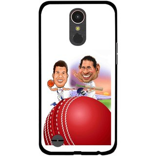 Snooky Printed Play Cricket Mobile Back Cover For LG K10 2017 - Multi