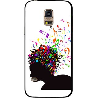 Snooky Printed Music Lover Mobile Back Cover For Samsung Galaxy S5 Mini - White