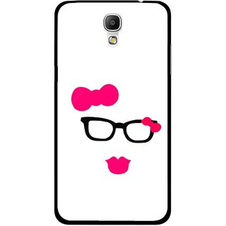 Snooky Printed Pinky Girl Mobile Back Cover For Samsung Galaxy Mega 2 - Multicolour